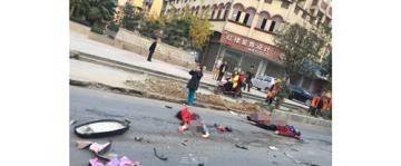 南充南部闹市惨烈车祸 8岁女童当场殒命